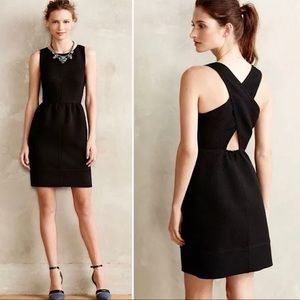 Maeve for Anthropologie Criss Cross Quilted Dress